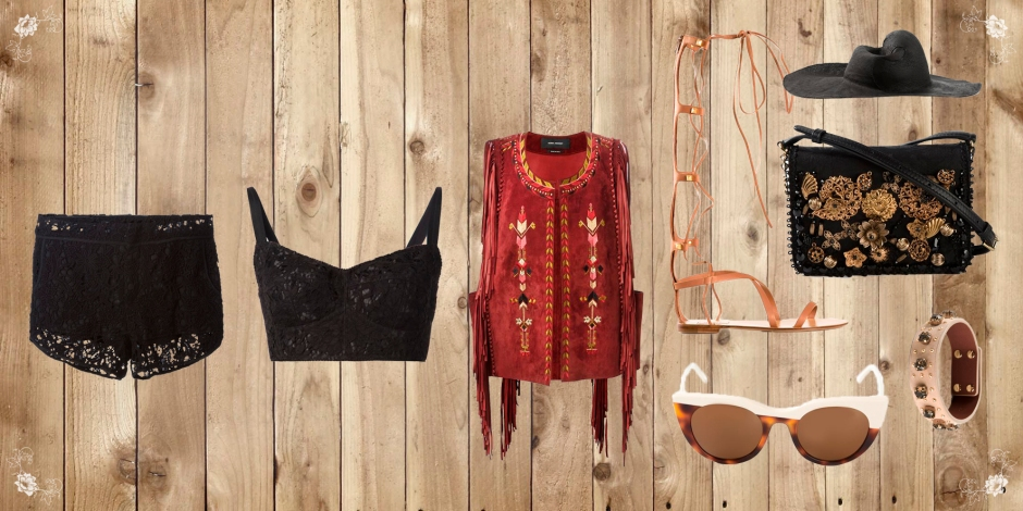 """You knew I loved the """"fringe"""" trend and this Isabel Marant waistcoat was perfect for the summer, along of course with the gladiator sandals from valentino, a classic for the summer, and of course lace !!!!"""
