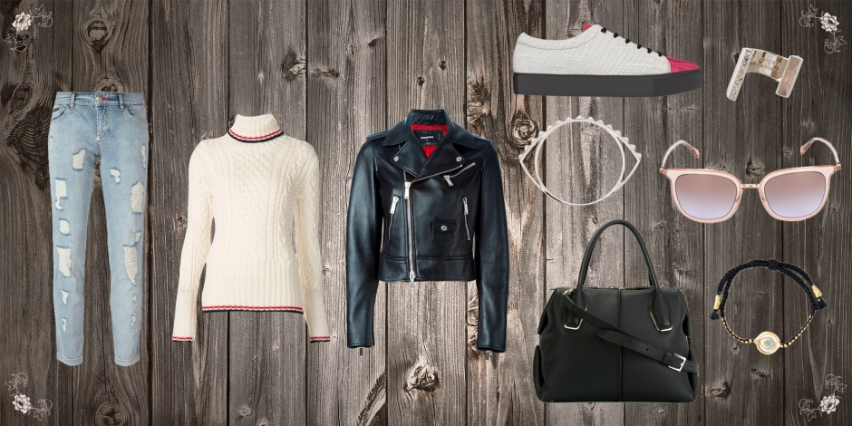 This look is perfect for the autumn, it's cozy and very classy I think, I loved the boyfriend jeans by Philipp Plein, they work perfectly and of course one of my fav things here were the shoes, because I designed them along with Myswear !!!