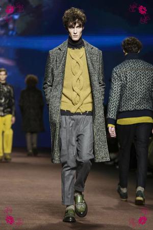 Etro Fashion Show, Menswear Collection Fall Winter 2016 in Milan