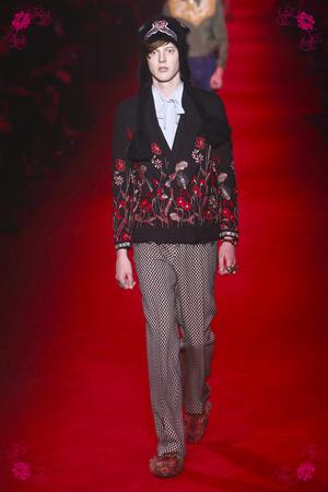 Gucci Fashion Show, Menswear Collection Fall Winter 2016 in London