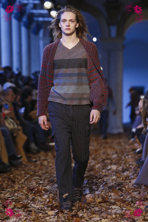 Missoni Fashion Show, Menswear Collection Fall Winter 2016 in Milan