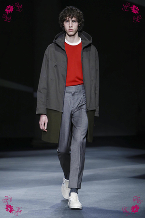 Neil Barret Fashion Show, Menswear Collection Fall Winter 2016 in Milan