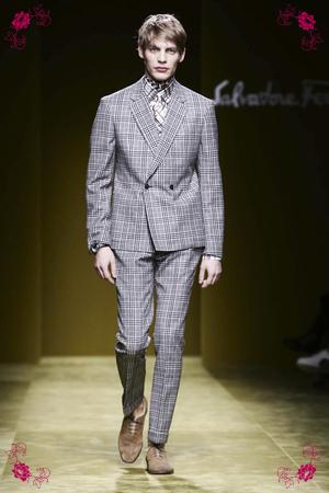 Salvatore Ferragamo Fashion Show, Menswear Collection Fall Winter 2016 in Milan