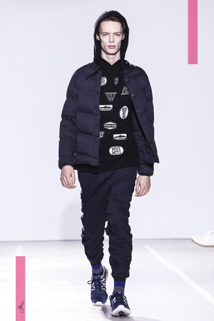 White Mountaineering menswear Fall Winter 2016 in Paris, Fashion Show.