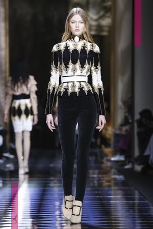 Balmain Fashion Show, Ready To Wear Collection Fall Winter 2016 in Paris