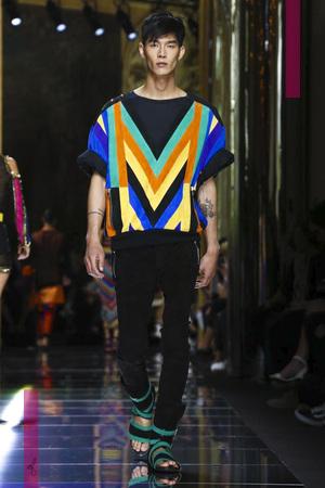 Balmain, menswear collection spring summer 2017 in Paris