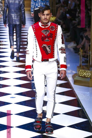 Dolce & Gabbana, Fashion Show, Mens Wear Collection Spring Summer 2017 in Milan