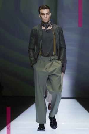 Emporio Armani Fashion Show, Menswear Collection Spring Summer 2017 in Milan