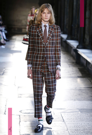 Gucci Cruise 2017 in Westminster Abbey, London.