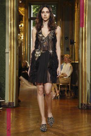 Alberta Ferretti Fashion Show, Couture Collection Fall Winter 2016 in Paris