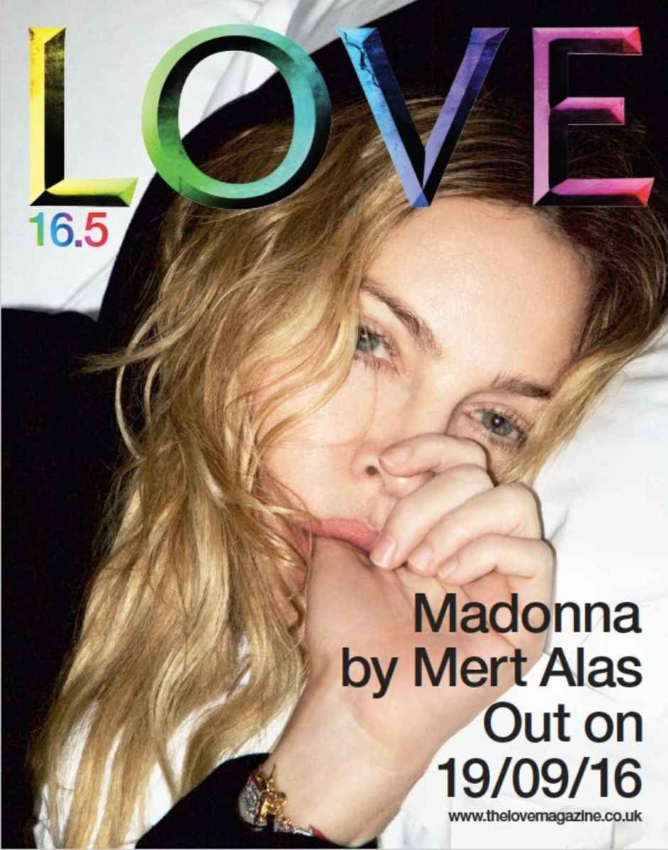 Madonna for Love Magazine. Photo: Mert Alas