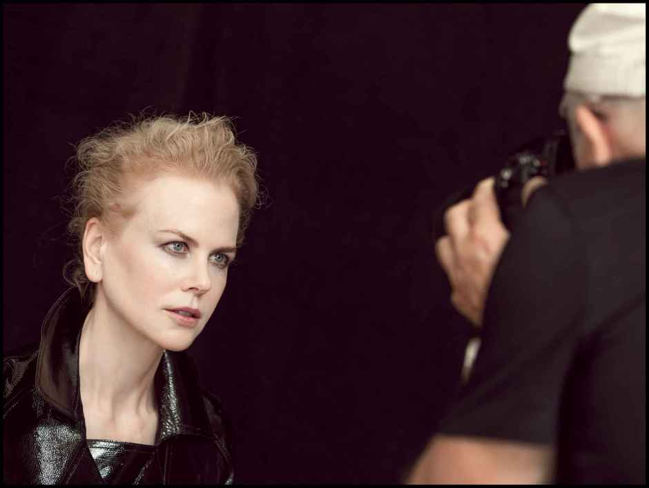 Behind the scenes imagery from the 2017 Pirelli Calendar by Peter Linbergh. Photo: Alessandro Scotti