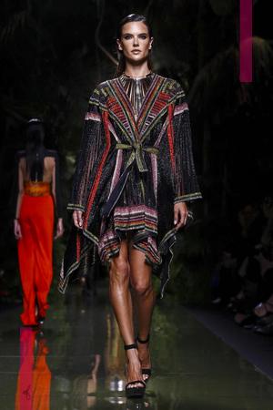 Balmain Fashion Show, Ready to Wear Collection Spring Summer 2017 in Paris
