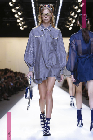 Fend Fashion Show, Ready to Wear Collection Spring Summer 2017 in Milan