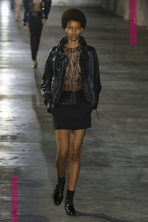 Saint Laurent Fashion Show, Ready to Wear Collection Spring Summer 2017 in Paris