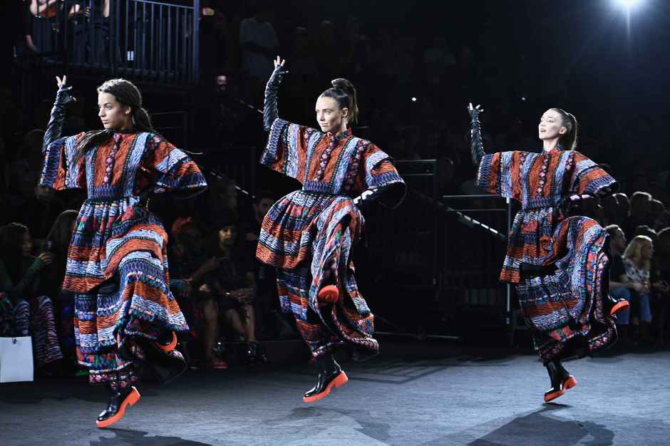 Looks from Kenzo x H&M show. Photo: H&M