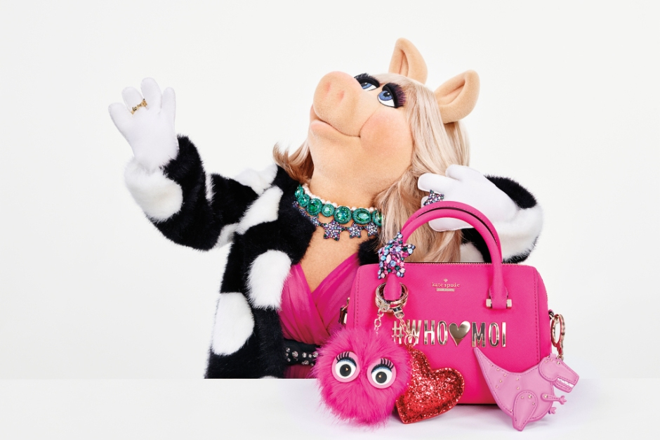 An Image from the Holiday Collection Ad Campaign Starring Miss Piggy