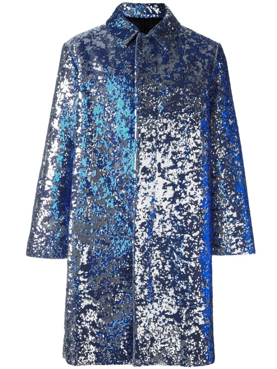 AMI ALEXANDRE MATTIUSSI  sequined single breasted coat