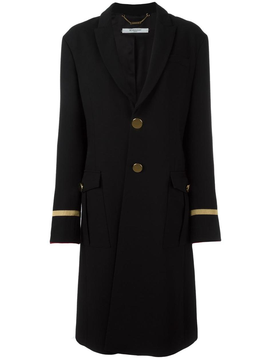 GIVENCHY  long military style coat