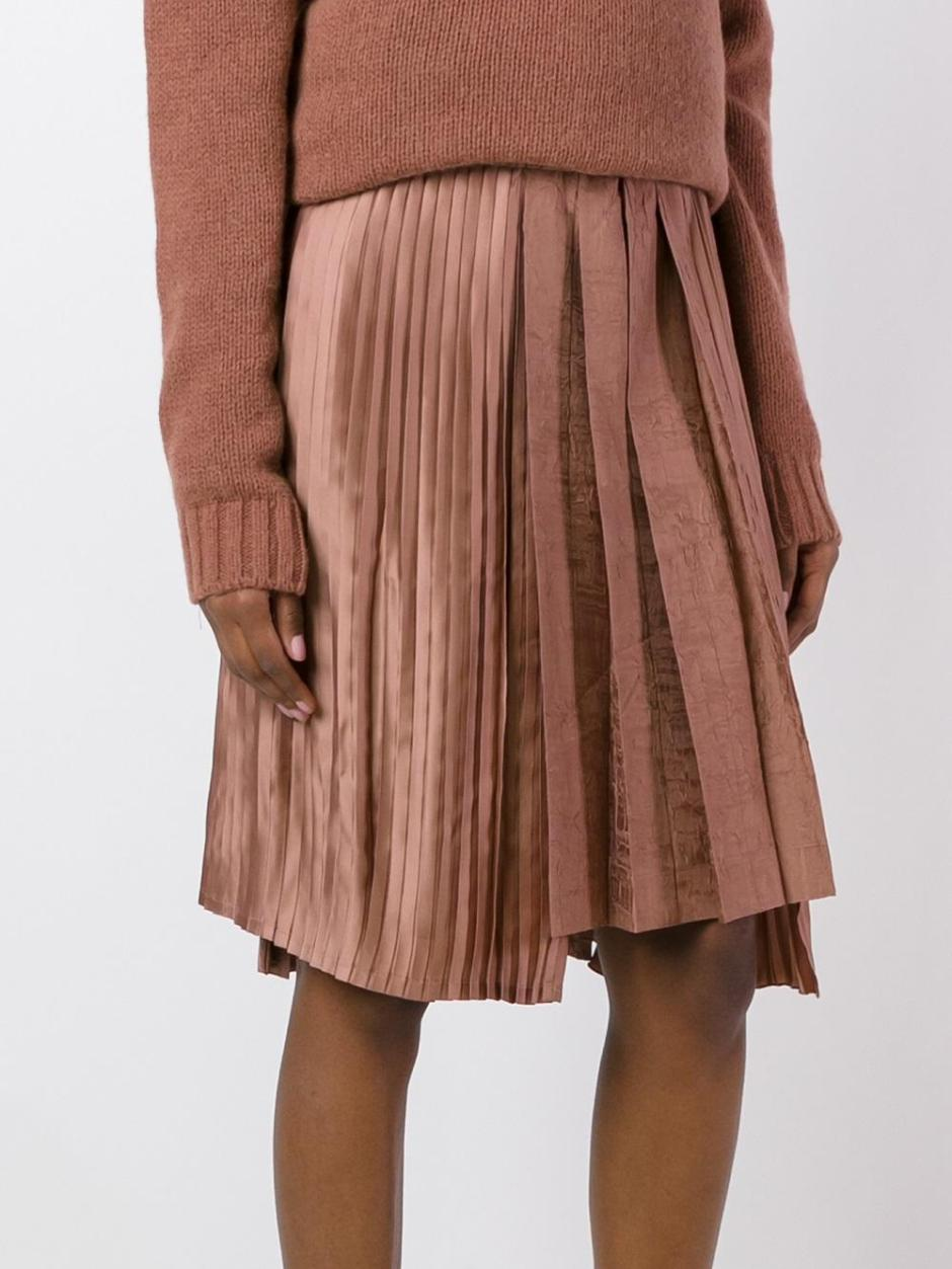 Nº21  satin effect pleated skirt