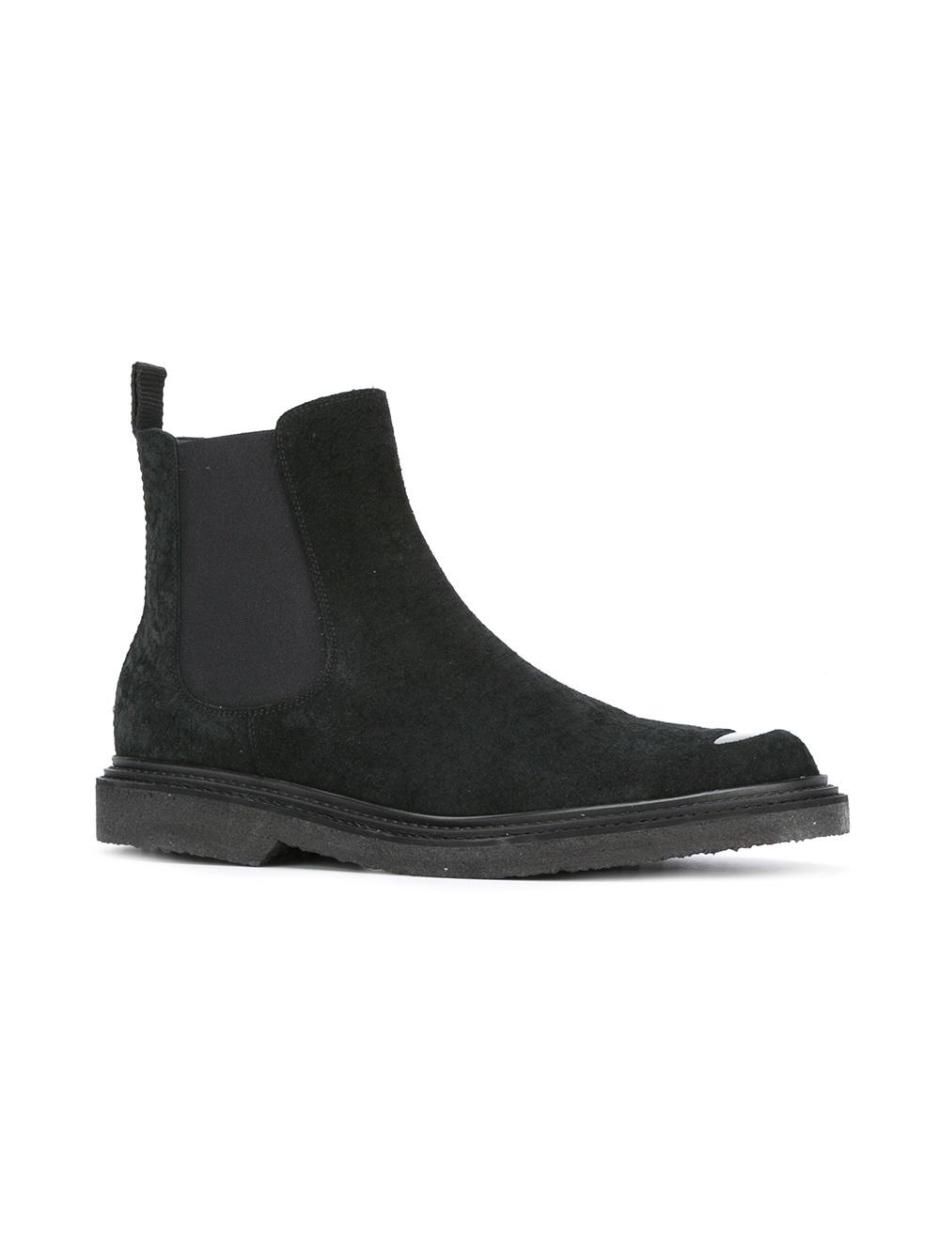 NEIL BARRETT  cut-out vamp Chelsea boots