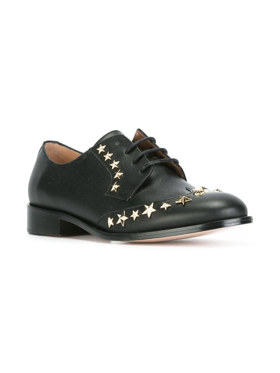 RED VALENTINO  star studded lace-up shoes
