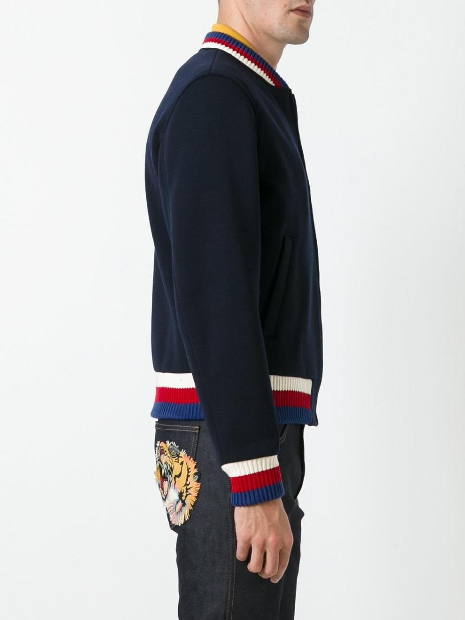 GUCCI  panther appliqué bomber jacket