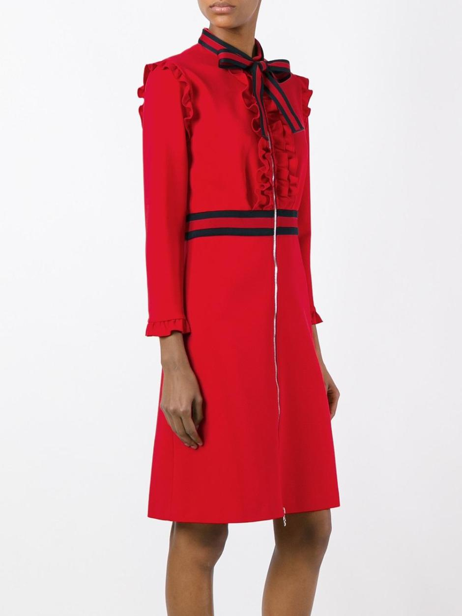 GUCCI  Web bow jersey dress