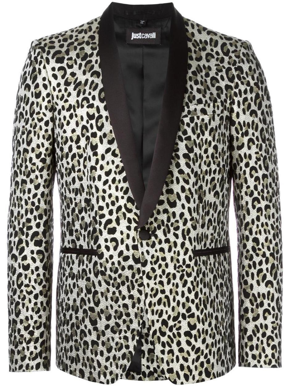 JUST CAVALLI  leopard print blazer