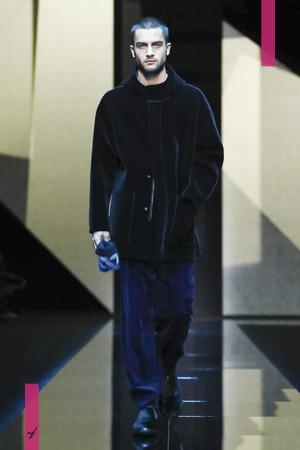 Giorgio Armani Menswear, Fall Winter 2017 Fashion Show in Milan