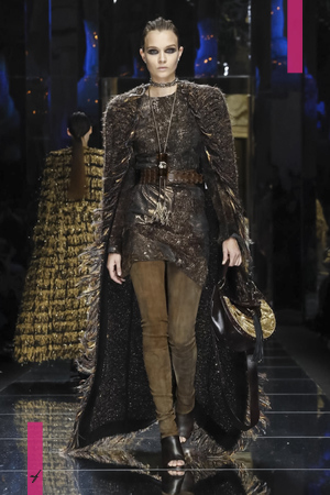 Balmain Ready To Wear Collection Fall Winter 2017 Fashion Show in Paris
